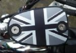 "Bonneville Thruxton T100 & Scrambler. Brake Fluid Cap ""Union Flag Logo"" Black MONO/MATT."